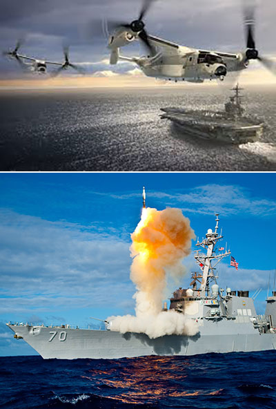 Airborne capabilities and Aegis launch